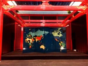 世界地図屏風